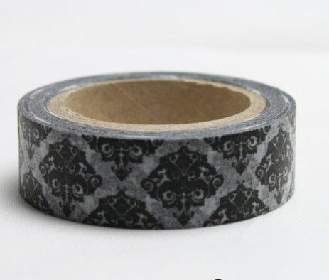 Dekorační lepící páska - WASHI pásky-1ks erb černý
