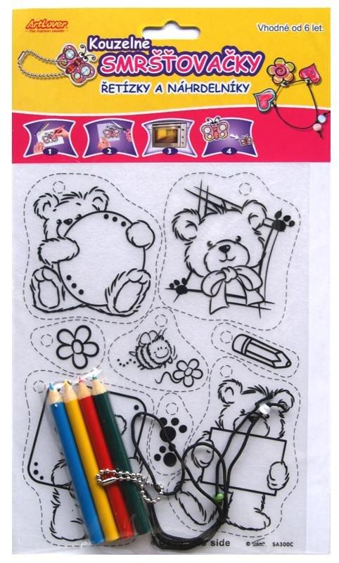 Smršťovací obrázek- Řetízky a náhrdelníky, medvídci, balón