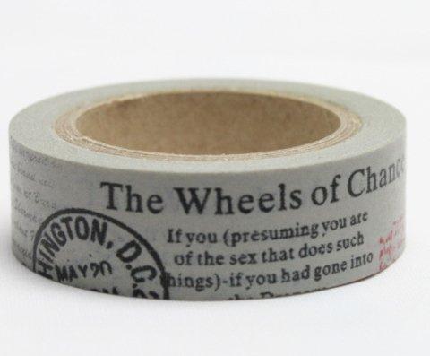 Dekorační lepicí páska - WASHI pásky-1ks The Wheels...