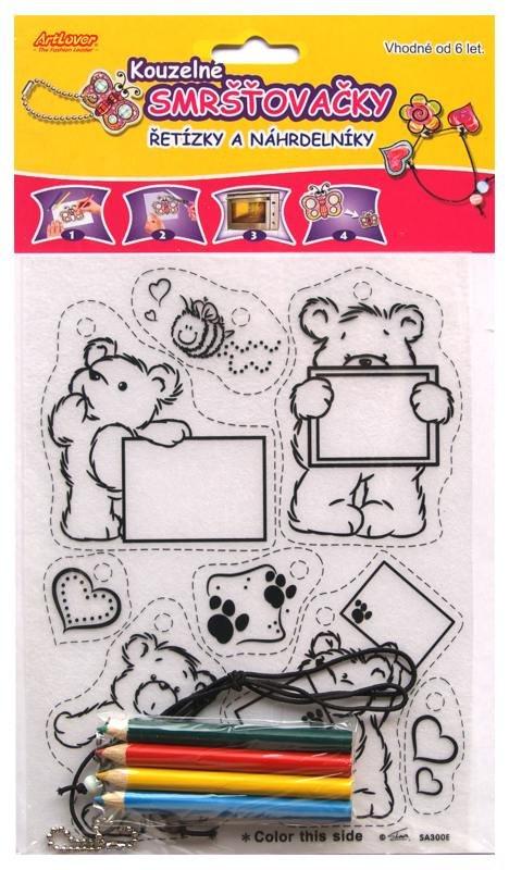 Smršťovací obrázek- Řetízky a náhrdelníky, medvídci, cedulky