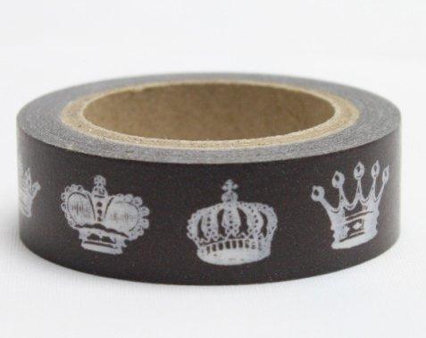 Dekorační lepicí páska - WASHI pásky-1ks královské koruny