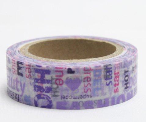 Dekorační lepicí páska - WASHI pásky-1ks fashion style
