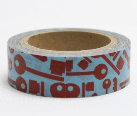Dekorační lepicí páska - WASHI pásky-1ks klíče