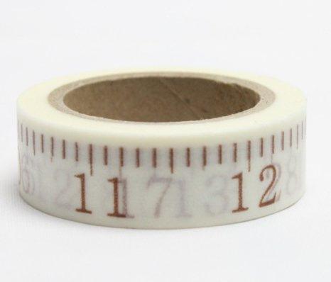 Dekorační lepicí páska - WASHI pásky-1ks metr zlatý v palcích 1-16