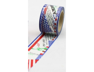 Dekorační lepicí páska - WASHI pásky-1ks Amerika