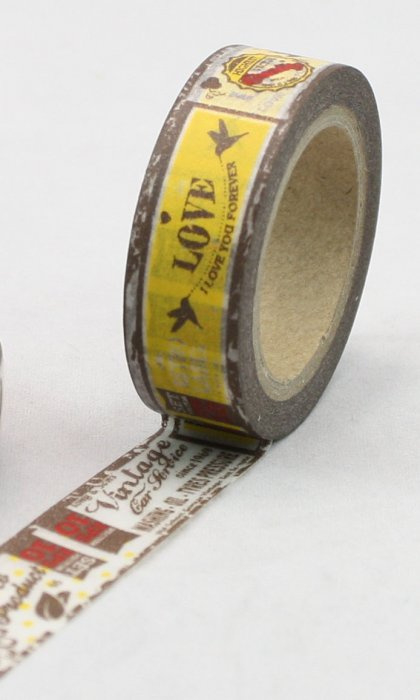 Dekorační lepicí páska - WASHI pásky-1ks I love you forever...