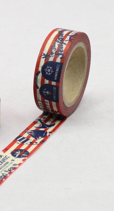 Dekorační lepicí páska - WASHI pásky-1ksSea Vintage..
