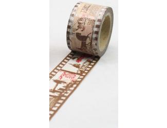 Dekorační lepicí páska - WASHI pásky-1ks filmový pásek