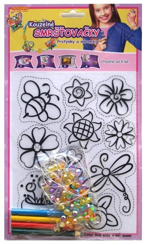 Smršťovací obrázek- Prstýnky a náramky, květiny
