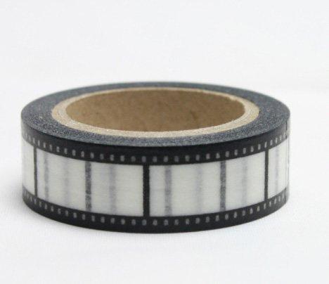 Dekorační lepicí páska - WASHI pásky-1ks filmový negativ
