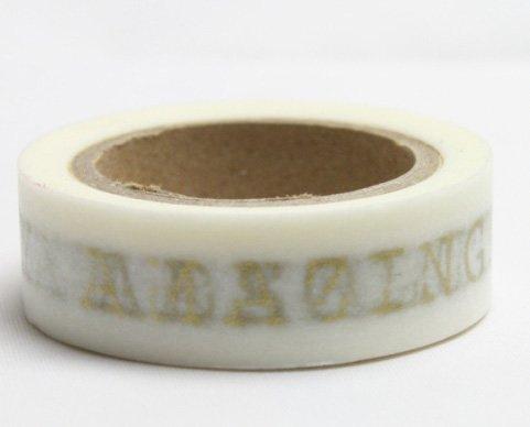 Dekorační lepicí páska - WASHI pásky-1ks zlatá -TODAY