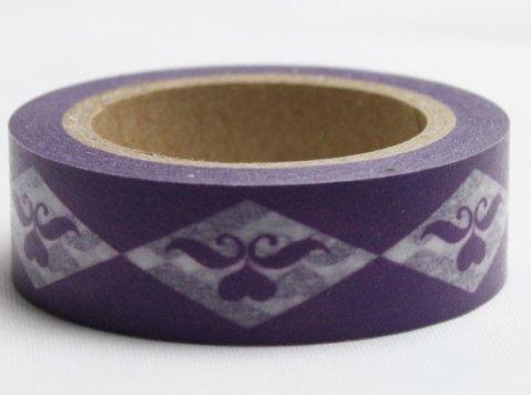 Dekorační lepicí páska - WASHI pásky-1ks ornament ve fialové