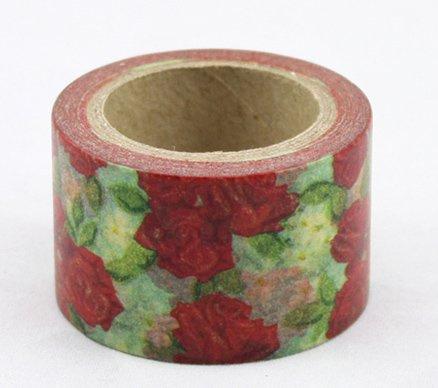 Dekorační lepicí páska - WASHI pásky-1ks růže