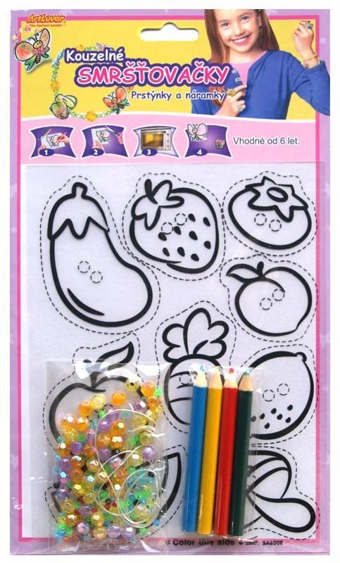Smršťovací obrázek- Prstýnky a náramky, ovoce