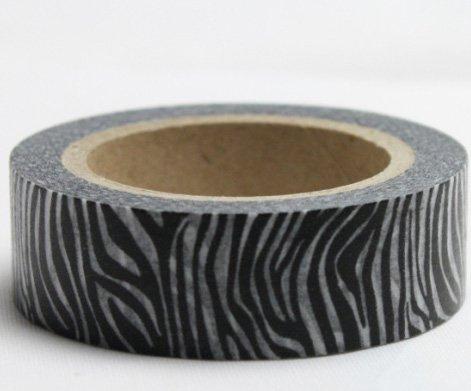 Dekorační lepicí páska - WASHI pásky-1ks safari zebra