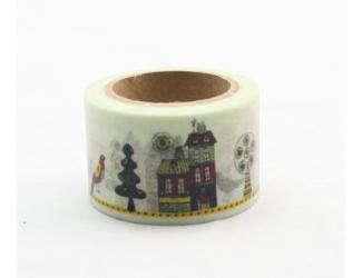 Dekorační lepicí páska - WASHI pásky-1ks domy
