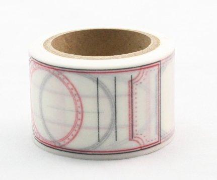 Dekorační lepicí páska - WASHI pásky-1ks popisky