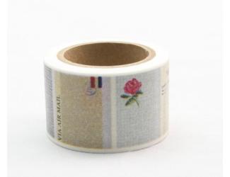 Dekorační lepicí páska - WASHI pásky-1ks popisky růže