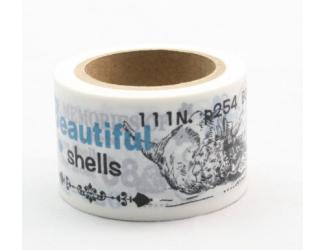 Dekorační lepicí páska - WASHI pásky-1ks Beautiful