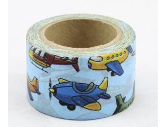 Dekorační lepicí páska - WASHI pásky-1ks Letadla
