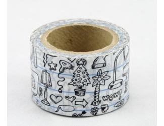 Dekorační lepicí páska - WASHI pásky -1ks WOW!