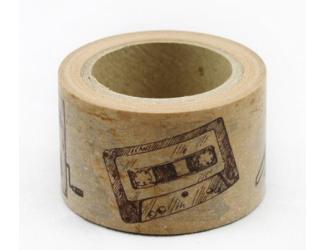 Dekorační lepicí páska - WASHI pásky -1ks telefon, foto, rádio
