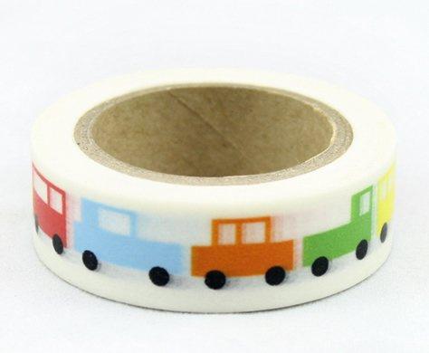 Dekorační lepicí páska - WASHI pásky-1ks mašinky pro děti