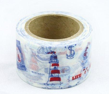 Dekorační lepicí páska - WASHI pásky -1ks maják