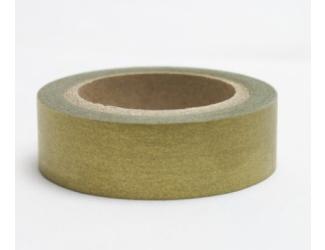 Dekorační lepicí páska - WASHI pásky-1ks zlatá
