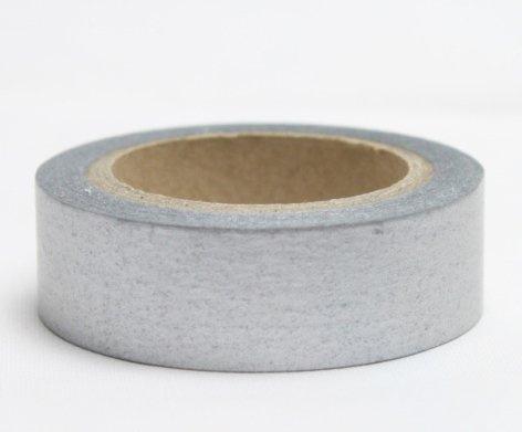 Dekorační lepicí páska - WASHI pásky-1ks stříbrná