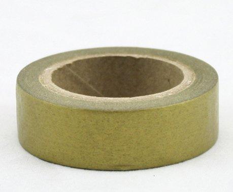 Dekorační lepicí páska - WASHI pásky-1ks měděná