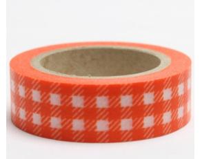 Dekorační lepicí páska - WASHI pásky-1ks kanafas oranžový