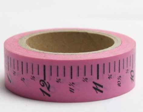 Dekorační lepicí páska - WASHI pásky-1ks metr růžový