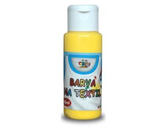 Barva na textil 60ml- žlutá
