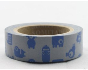 Dekorační lepicí páska - WASHI tape-1ks modří mimozemšťani