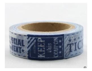 Dekorační lepicí páska - WASHI pásky-1ks ticket,cineme