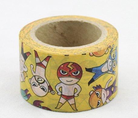 Dekorační lepicí páska - WASHI pásky-1ks infantilní bojovníci