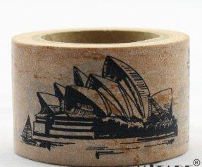 Dekorační lepicí páska - WASHI pásky -1ks stavby světa