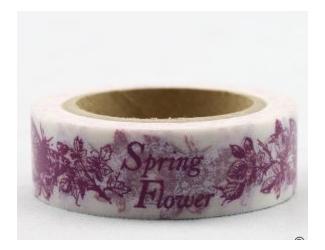 Dekorační lepicí páska - WASHI pásky-1ks Spring Flower