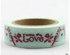 Dekorační lepicí páska - WASHI pásky-1ks With Love, ptáci