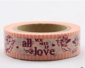 Dekorační lepicí páska - WASHI pásky-1ks andílci -amorci