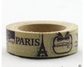 Dekorační lepicí páska - WASHI tape-1ks Paris, Eiffelovka, deštník
