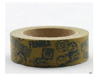 Dekorační lepicí páska - WASHI tape-1ks poštovní razítka