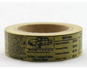 Dekorační lepicí páska - WASHI tape-1ks noviny