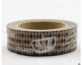 Dekorační lepicí páska - WASHI tape-1ks Vintage, královská koruna