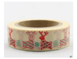 Dekorační lepicí páska - WASHI tape-1ks zamilovaní sobi