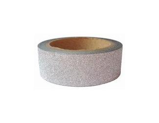 Dekorační lepicí páska glitrová - WASHI tape - stříbrná