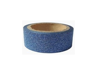 Dekorační lepicí páska glitrová - WASHI tape - modrá