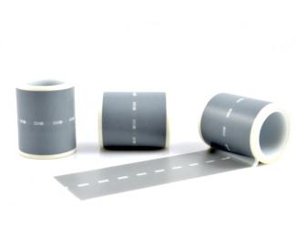 Dekorační lepicí páska - WASHI pásky-1ks silnice 10 m x 50 mm