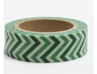 Dekorační lepicí páska - WASHI pásky-1ks zelená zetka